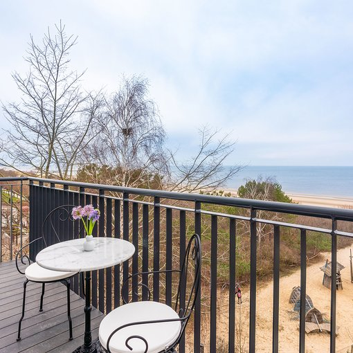 Strandhotel Ahlbeck balcony with seaside view